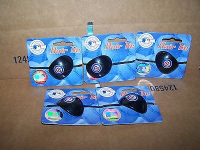 LOT OF 5  CHICAGO CUBS MLB HAIR TIES - NEW