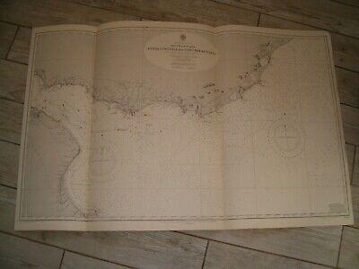 Vintage Admiralty Chart 3064 SOUTH AMERICA - RIO DE LA PLATA & APPROACH 1939 edn