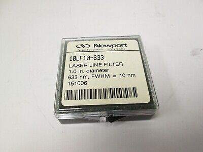 Lot Of 2 Newport 10lf10-633 Laser Line Filter 632.8nm Wavelength 25.4mm Diameter