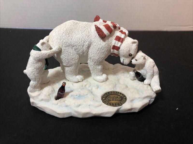 "Heritage Collection Coca-Cola Polar Bear Figurine  ""Bear Play"""