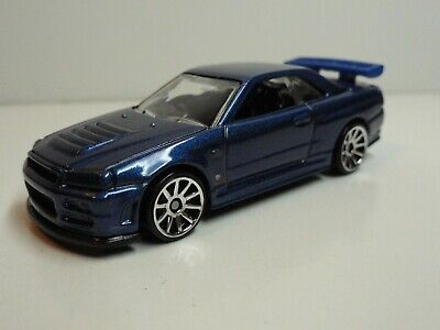 2010 Hot Wheels New Models #7 Nissan Skyline GT-R R34 (Blue) – LOOSE