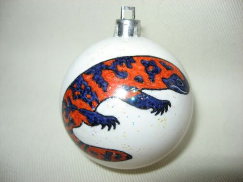 NEW HANDPAINTED GILA MONSTER LIZARD UNBREAKABLE CHRISTMAS ORNAMENT