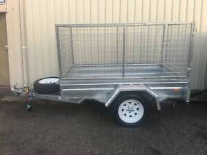 GALVANISED BOX TRAILERS WITH 2ft MESH CAGES - ON SALE Cardiff Lake Macquarie Area Preview