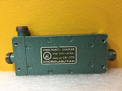 Microlab Fxr Cb-37n 0.75 To 1.5 Ghz Type N F Coaxial Directional Coupler