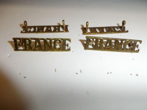 e4475p WW 2 Free French France Army Shoulder strap badge battle dress pr IR18T2