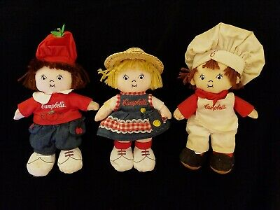 Vtg Campbells Soup Kids Plush Stuffed Doll Advertising Merchandise Memorabilia