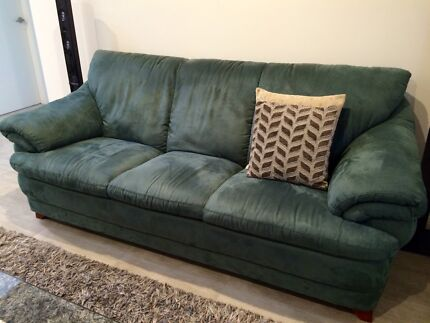 Suede leather Lounge Suite - 4 Piece Picnic Point Bankstown Area Preview