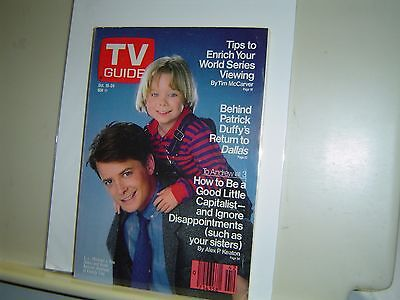 Tv Guide Oct 18 1986 Michael J Fox Brian Bonsall Family Ties South Texas Edition