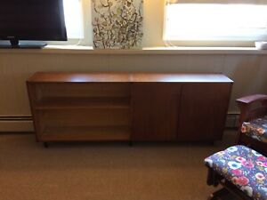 Solid teak antique retro shelf sideboard