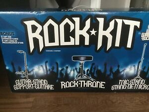 Guitar Stand, Rock Stool, Mic Stand for Guitar Hero & Rock Band