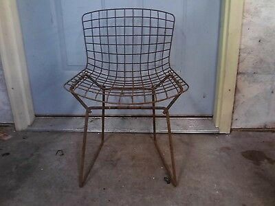 Harry Bertoia  Vintage Knoll  Wire Side Chair Mid Century Modern