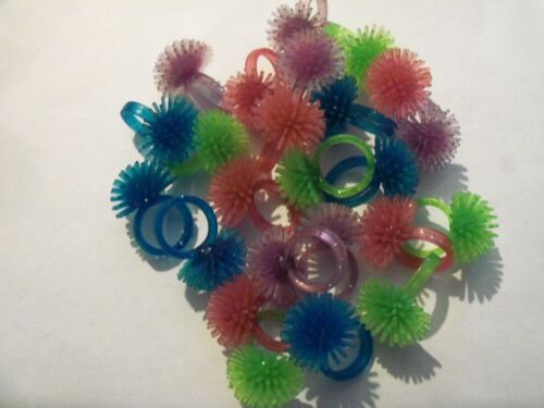 24 Glitter Spike Rubber Rings  Party Favors Princess Spike