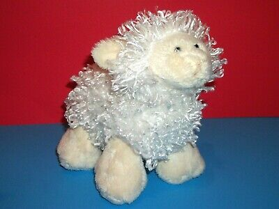 Mary Meyer Lamb White Ivory Curly Hair Plush Stuffed Sheep Animal