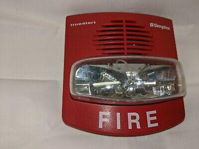 Simplex 4906-9127 Truealert Fire Alarm Horn Strobe Red Wall