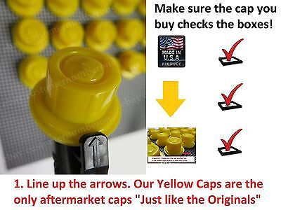 4 X New Blitz Replacement Yellow Spout Caps Fuel Gas Fits 900302 900092 900094