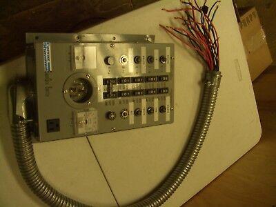 10-750 Ferraz Shawmut Emergen 10 Breaker Manual Transfer Switch Panel