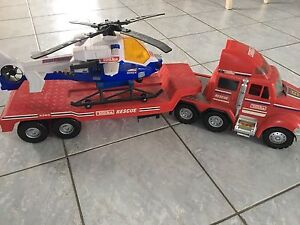 Tonka truck, trailer and helicopter  - Kingsville
