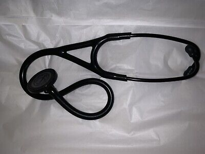 3m Littmann Master Cardiology Stethoscope Binaural 27 Blkblk Slightly Used