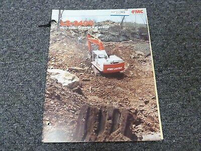 Link-belt Ls-3400 Crawler Excavator Specifications Lifting Capacities Manual
