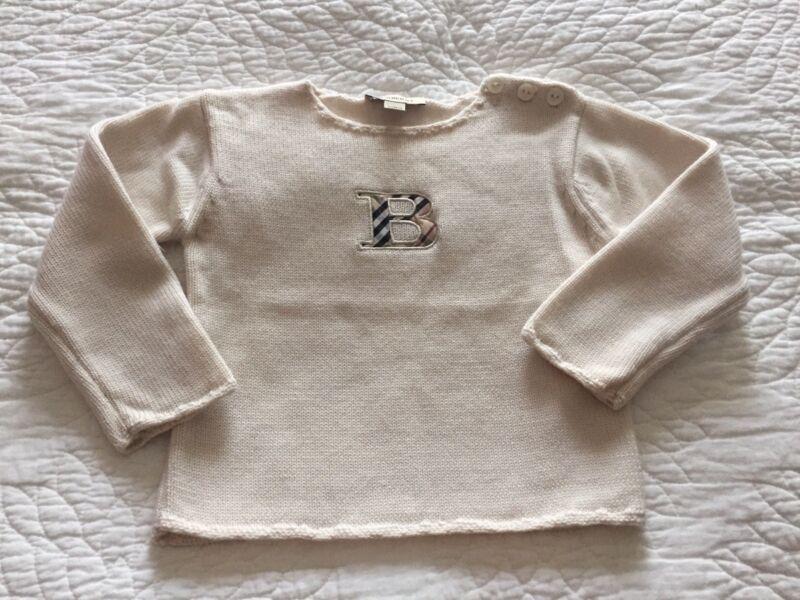 Burberry Baby Girls Sweater Sz 3 Y