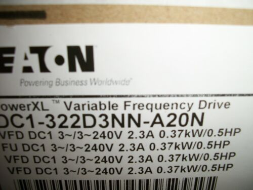 Eaton DC1-322D3NN-A20N Power XL Variable Frequency Drive New