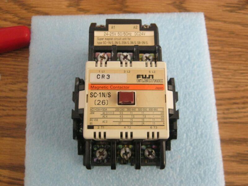 Fuji Electric Model: 26 Magnetic Contactor.  P/N: SC-1N/S with SC-1N/S, 2N, <