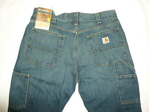CARHARTT Men's Relaxed Fit Carpenter Jeans NWT! Sz. 38Wx32L