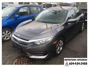 2018 Honda Civic LX ONE OWNER, NO ACCIDENTS, Only 6119 kms!