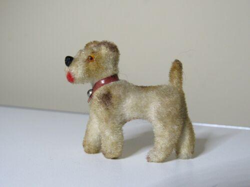 Vintage Flocked Dog, West Germany  Wagner Kunstlerschutz Terrier Handmade