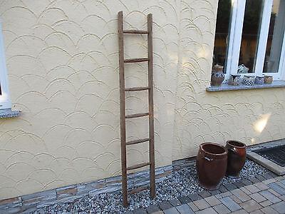 alte Holzleiter(105) Deco Blumenampel Baumleiter Handtuchhalter Kleiderhalter
