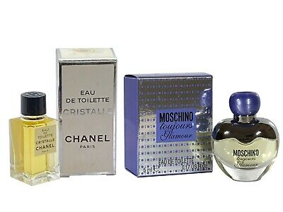 Women Miniature Mini Perfume Gift x2 CHANEL Cristalle 4.5ml EDT Moschino