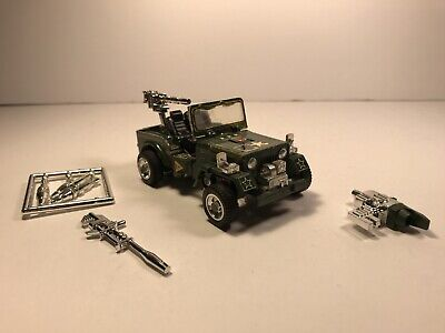 Vintage TAKARA JAPAN Transformers G1 HOUND Army Jeep almost COMPLETE -Read Desc.