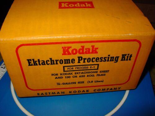 VINTAGE KODAK EKTACHROME FILM PROCESSING KIT E-1 W/ INSTRUCTIONS USA NOS