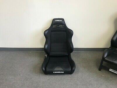 Corbeau LG1 Racing Seat Wide Black Cloth Passenger Side RH LG-1 Reclining BLEM Corbeau Passenger Side Seat