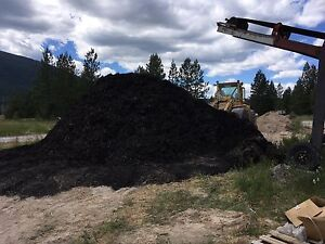 Black Wood Mulch bulk delivery available 250-417-9817