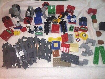 LEGO DUPLO Lot BLOCKS BRICKS  Multicolored THOMAS THE TRAIN THEME Tracks