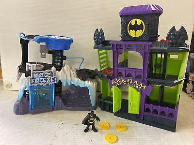 Fisher Price Batman Arkham Asylum & Mr Freeze Headquarters Playset Imaginext Lot