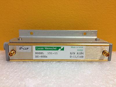 Weinschel 151-11 Dc To 4 Ghz 0 To 11 Db 1 Db Steps Sma F-f Attenuator