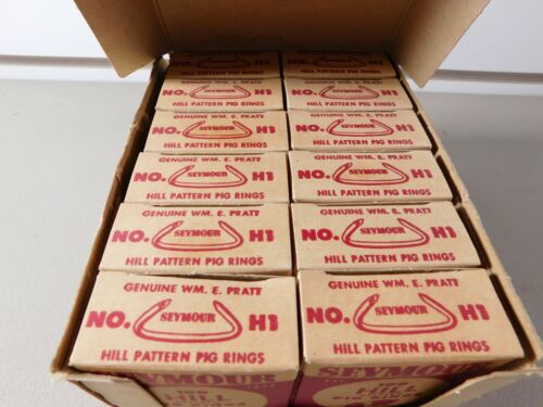 Hog Rings. Seymour Manu. Co. Seymour, Indiana. Lot of 1,200 Hill Pattern NOS