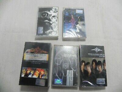 Shinhwa - Rare Korea Lot Of 5 Title 6 Cassette Tape / 1st Press & SEALED NEW