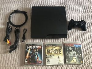 PS3 Slim 160Gb with 3 games