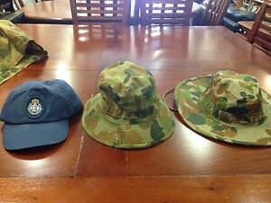 Army Military uniform hats from airforce Inala Brisbane South West Preview