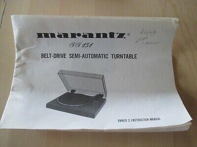 Riemen f Marantz TT-141 TT-145 TT-151 TT-153 Plattenspieler Turntable Drive Belt