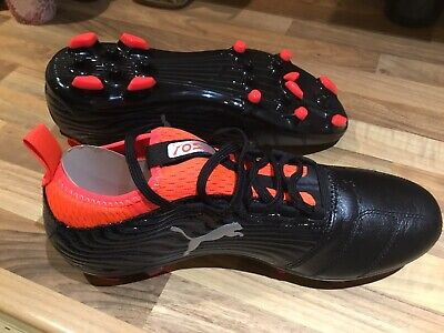 Puma One 18.3 AG Mens Football Boots 4G 3G Black / Orange New Size 8
