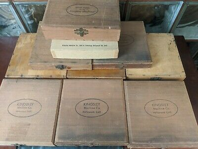 Kingsley Hot Foil Machine Letters Special Characters Parts Huge Lot 10 Boxes