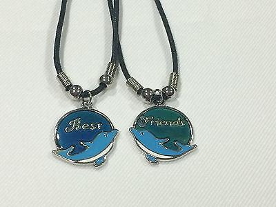 Best Friend Dolphin Mood necklace Color Change 2 Pendants Mood Charm