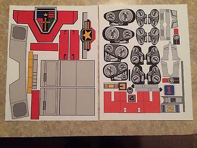 REPRO Stickers - Voltron Golion Jumbo Machinder Shogun Warriors - VINYL