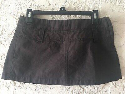Diesel Coated Micro Mini Skirt Womens 28 Faded Black Charcoal zip Cotton Resin Diesel Cotton Skirt