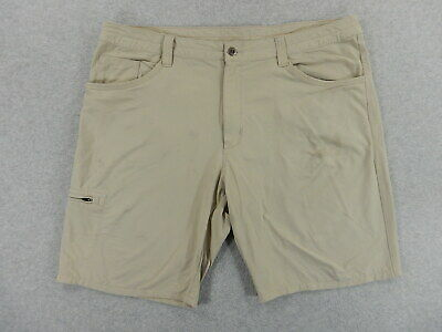 Patagonia Nylon/Spandex Hiking Travel Climbing Shorts (Mens Size 40) Tan ()