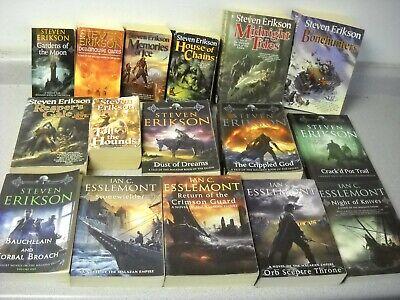 16 Books - Steven Erikson Malazan Series + Extras Ian Esslemont Malazan